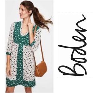 Boden Pink and Green Dress